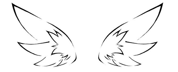 Dessins ailes de f es les secrets de la for t enchant e - Dessin de coeur avec des ailes ...