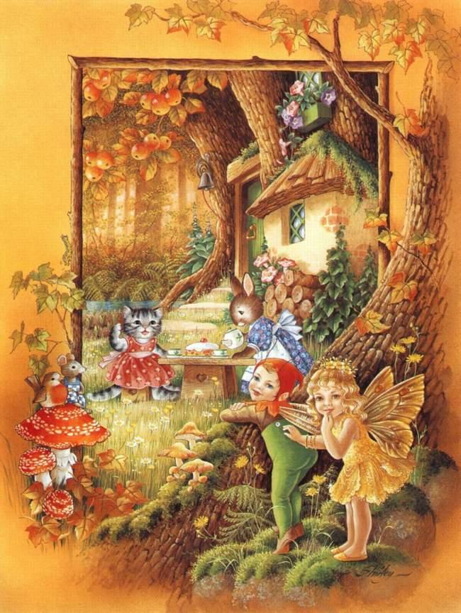 Illustration Conte De Fée contes merveilleux et folkloriques - les secrets de la forêt enchantée