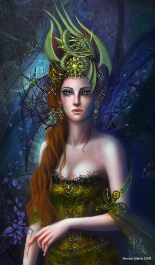 Tout en poésie! dans Citations, Poèmes Féeriques the__dragon_queen_by_shadowbrooke-copie